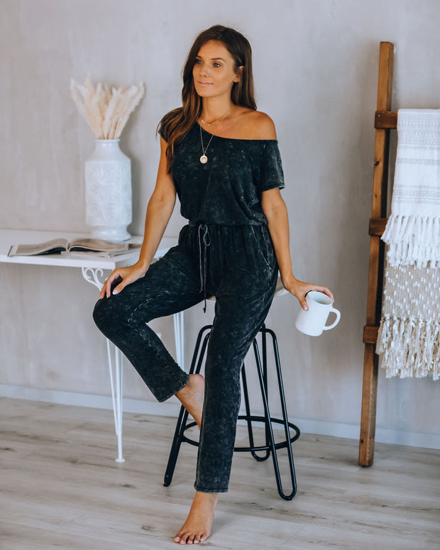 Noah Pocketed Washed Knit Jumpsuit