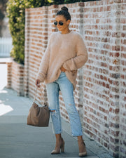 Last Hurrah Faux Fur Knit Sweater
