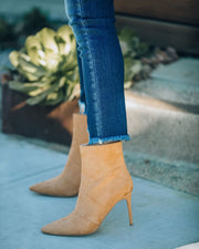 Britt Faux Suede Heeled Bootie - Camel view 2