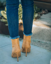 Britt Faux Suede Heeled Bootie - Camel view 6