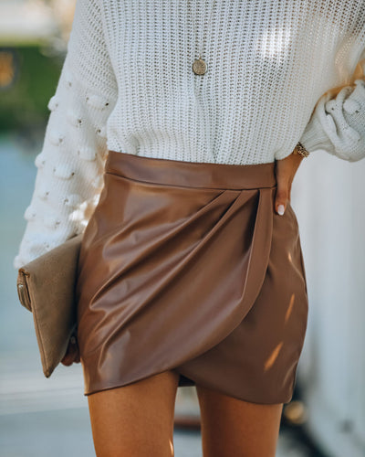 Itzel Faux Leather Mini Skirt
