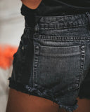 Lexi Distressed Shorts - Black - FINAL SALE