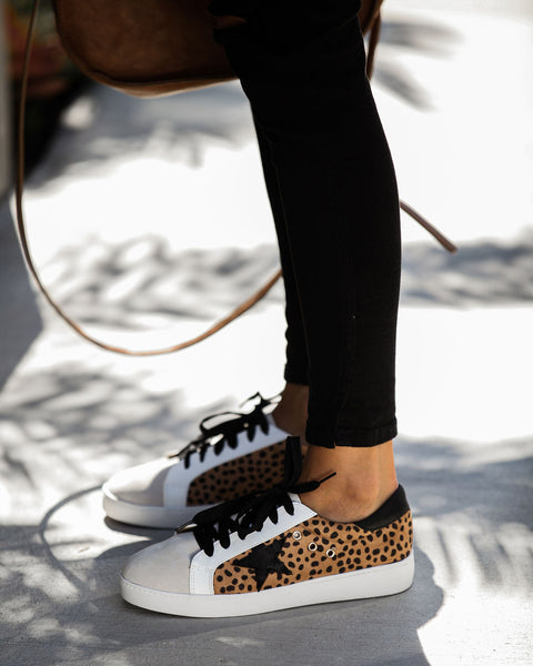 Dash Faux Suede Cheetah Sneakers