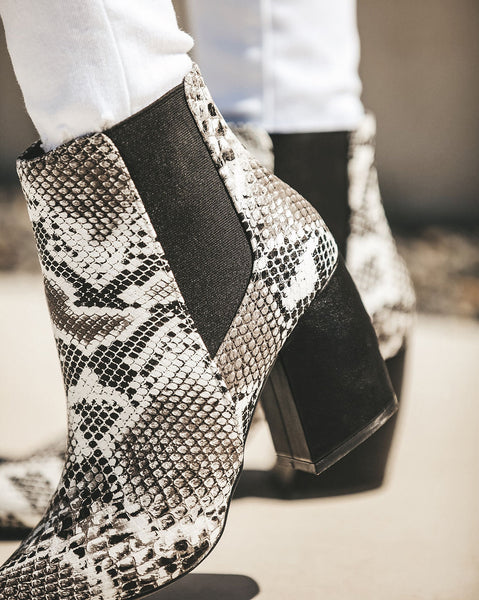 Venomous Faux Leather Snakeskin Bootie - FINAL SALE