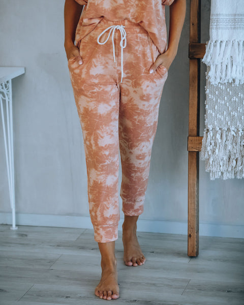 Fresh Squeezed Tie Dye Pocketed Knit Joggers