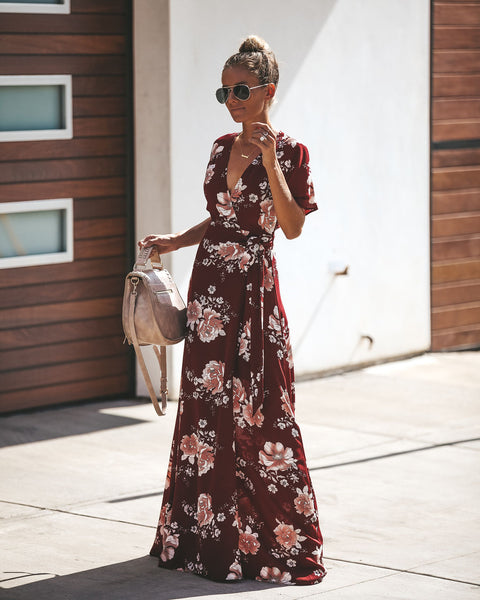 Martha's Vineyard Wrap Maxi Dress