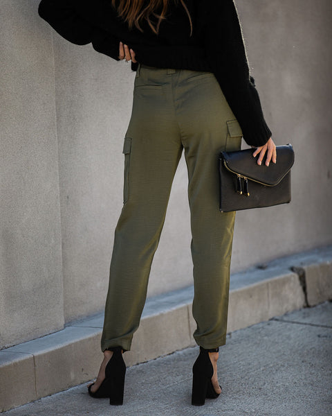 Watch Me Go Pocketed Cargo Pants - FINAL SALE