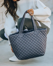 Breakaway Quilted Tote Bag - Carbon