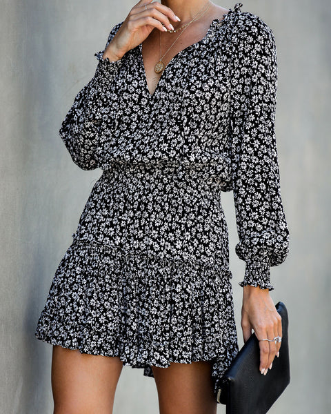Good Old Days Long Sleeve Ruffle Dress
