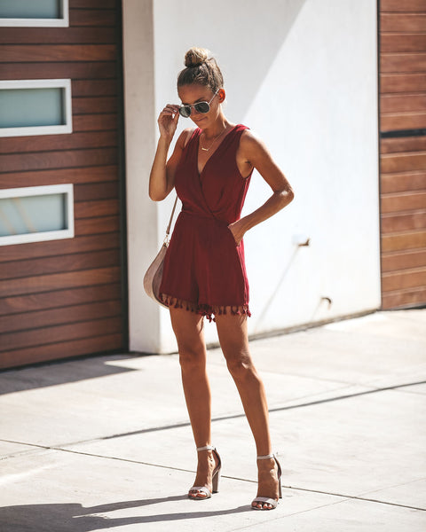 Riri Tassel Pocketed Romper