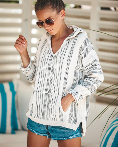 Magdalene Pocketed Cotton Pullover - Cream