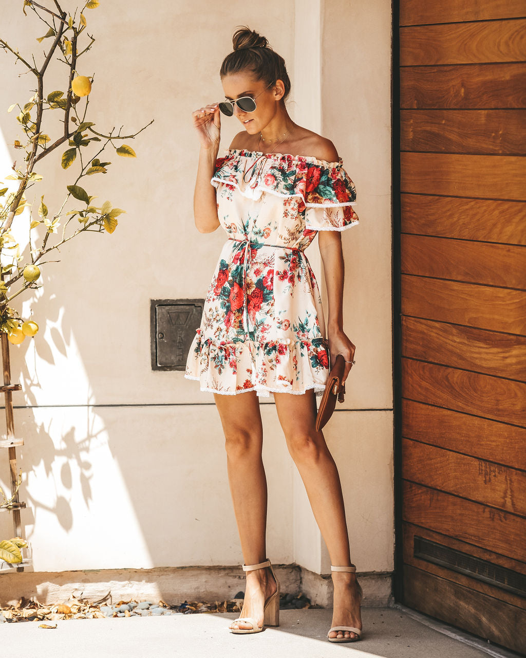 62a4a4b5ea60c Pierre Floral Ruffle Pocketed Dress – VICI