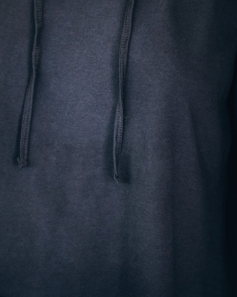 Isle Royale Cotton Lightweight Knit Hoodie - Washed Black