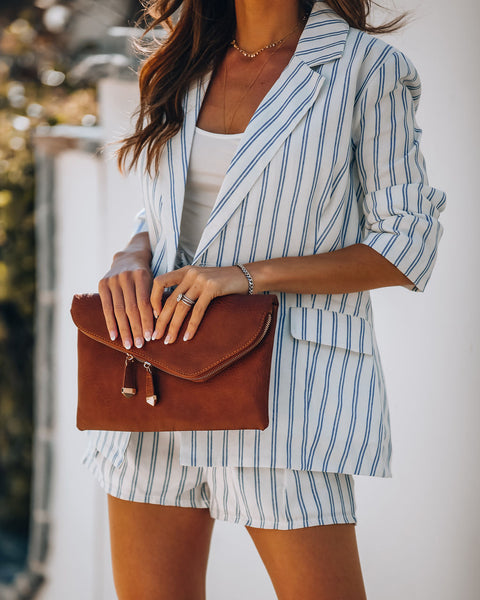 Cherish Sunsets Pocketed Striped Blazer - FINAL SALE