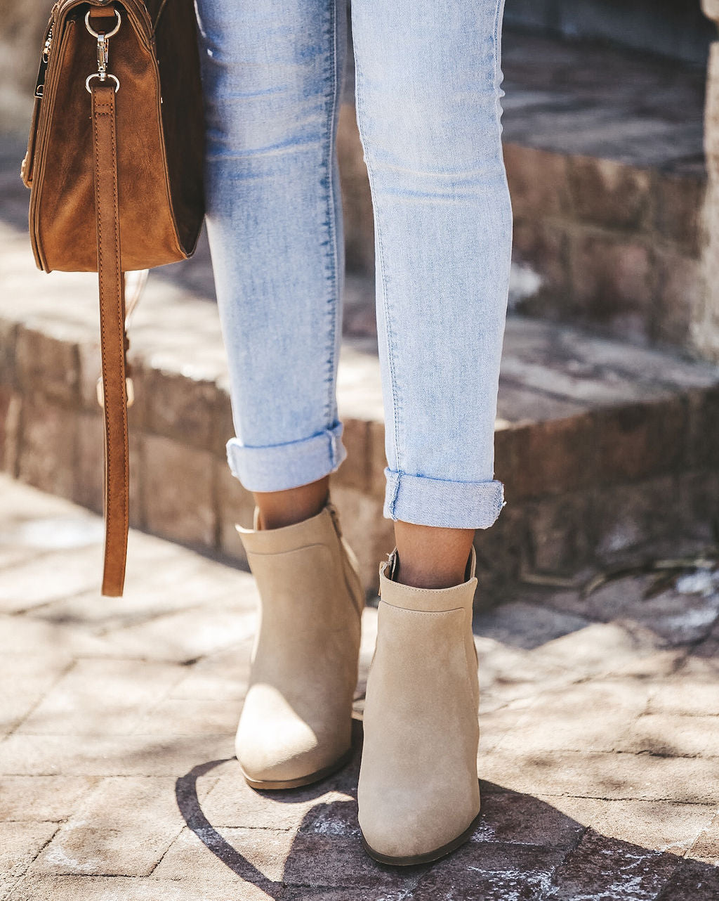 0d5901c64 Saddle Up Faux Suede Wedge Bootie - Oatmeal – VICI
