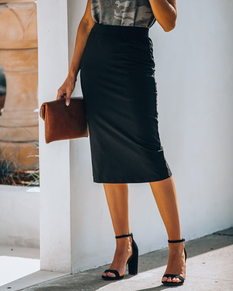Always On Time Cotton Pencil Skirt