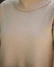 Martha Cropped Knit Turtleneck Sweater