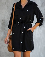 Stardom Tencel Pocketed Button Down Dress   - FINAL SALE