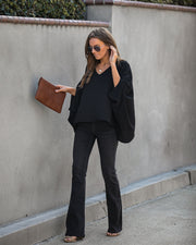 Keeps Getting Better Statement Blouse - Black