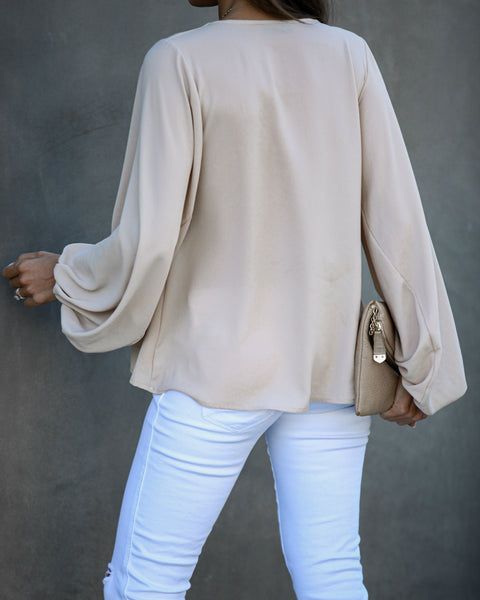 Bells Will Be Ringing Balloon Sleeve Blouse - Ecru