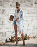 Turtle Bay Pocketed Duster Cardigan