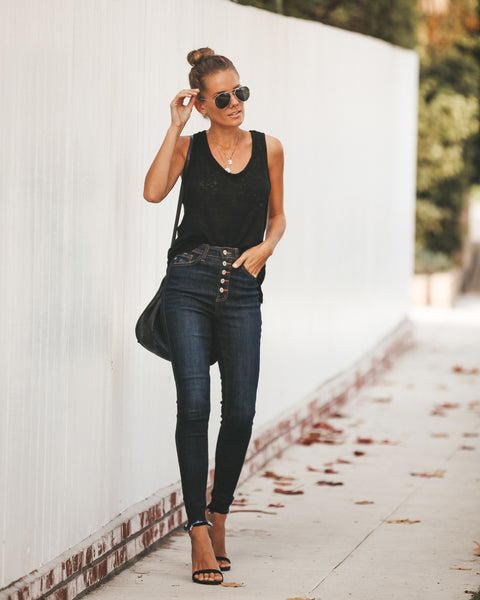 Ozark Dark Wash High Rise Skinny  - FINAL SALE