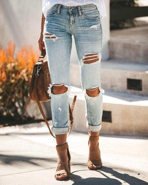 Sasha Distressed Relaxed Skinny - FINAL SALE