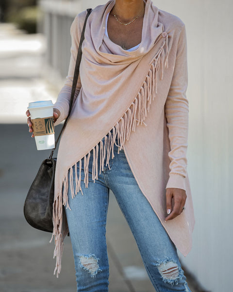 Shawl Fringe - Blush - FINAL SALE