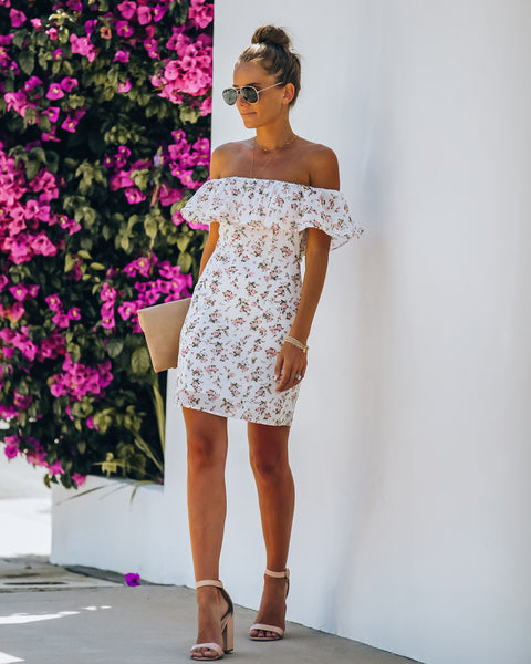 Charleston Floral Off The Shoulder Dress