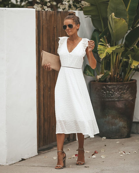 Carolina Eyelet Dress - FINAL SALE
