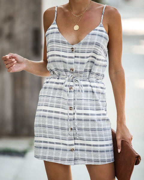 Hartley Cotton Striped Button Down Dress - FINAL SALE