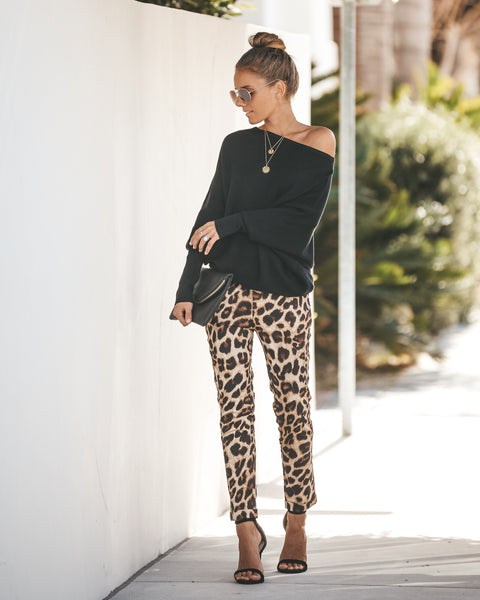 Big City Pocketed Cotton Leopard Trousers