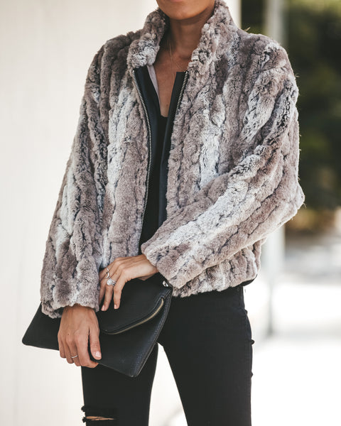 Telluride Pocketed Faux Fur Jacket