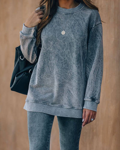 Nicolette Cotton Blend Washed Sweatshirt