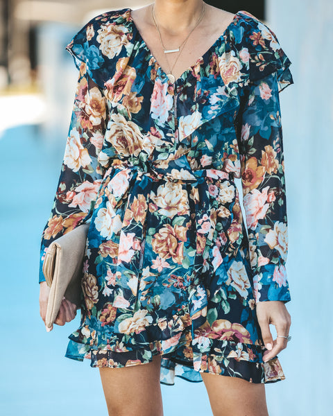 My Heart Will Go On Floral Ruffle Dress - FINAL SALE