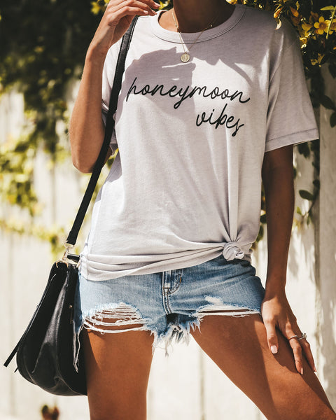 Honeymoon Vibes Cotton Blend Tee - FINAL SALE
