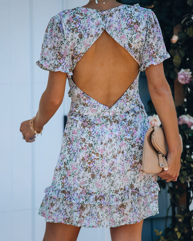 Ripley Backless Floral Ruffle Dress