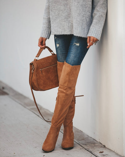 Linden Faux Suede Boot - Tan