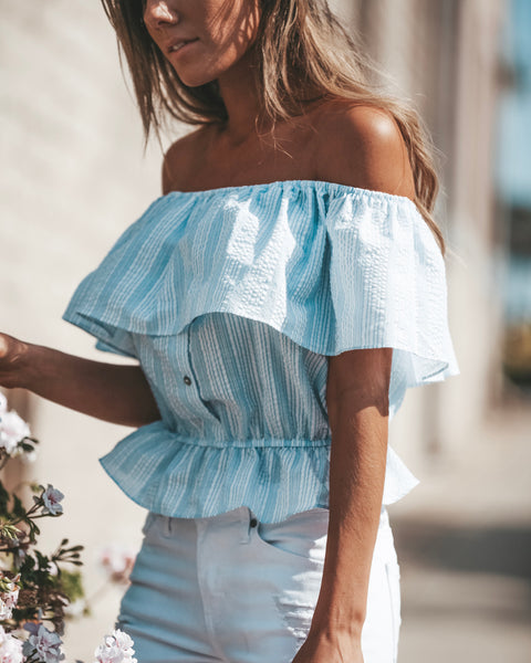 Madalyn Off The Shoulder Striped Top