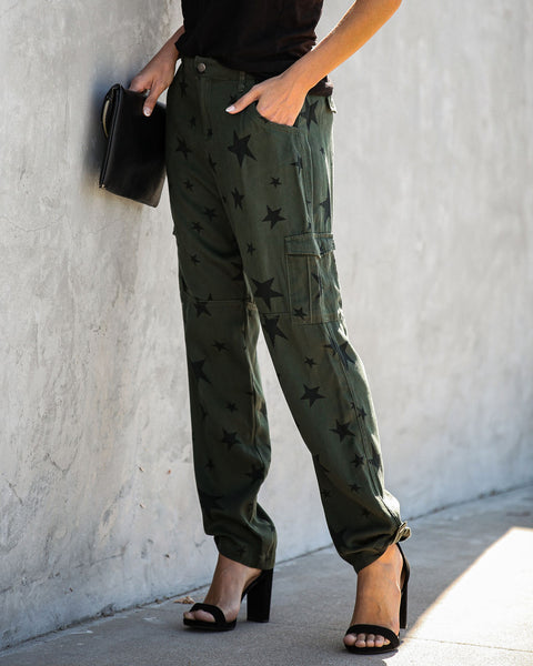 Every Inch A Star Pocketed Tencel Cargo Pants