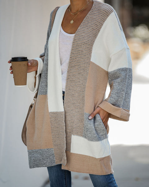 Gentry Pocketed Colorblock Cardigan - FINAL SALE