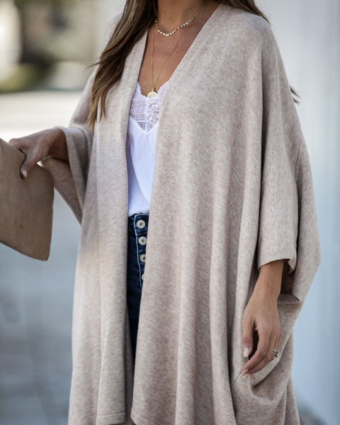 Cocoon Pocketed Knit Cardigan