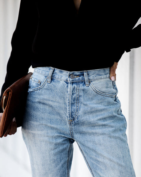 Take Five High Rise Distressed Denim