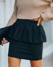 Paradise Peplum Mini Skirt - Black - FINAL SALE
