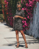 Believe In Love Lace Dress - Black/Nude - FLASH SALE