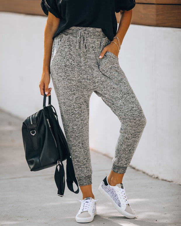 Spend Quality Time Pocketed Knit Joggers