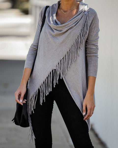 Shawl Fringe - Heather Grey - FINAL SALE