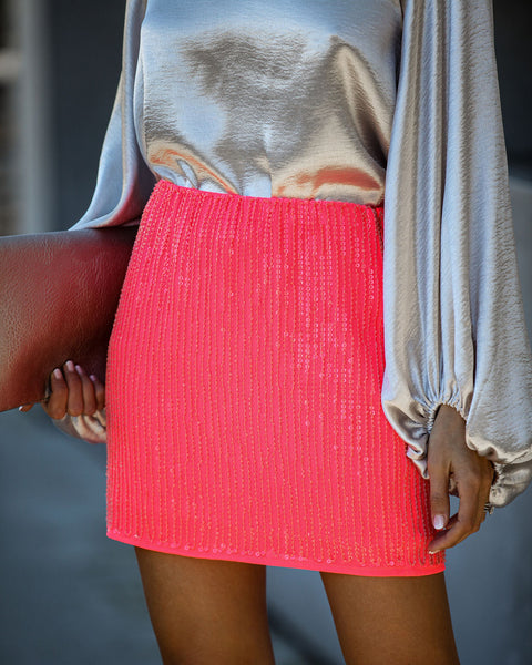 An Insider Sequin Mini Skirt
