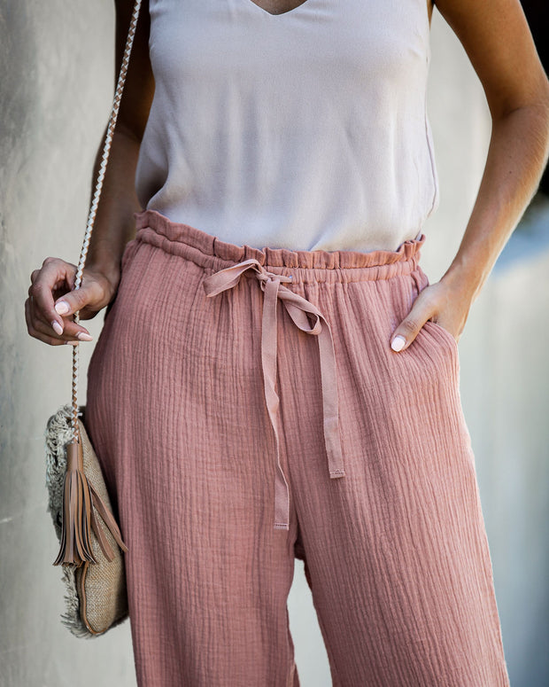 Sunporch Cotton Pocketed Pants - Rust - FINAL SALE