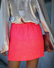 An Insider Sequin Mini Skirt - FINAL SALE